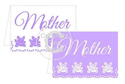Mother Rose Edged Border Card Template
