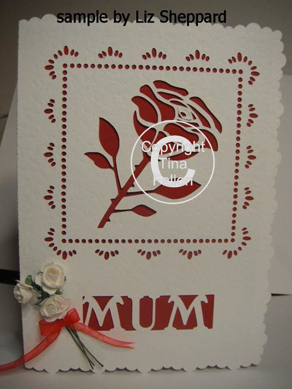 Rose / Mum Card Template