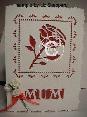 Rose / Mum Card Template