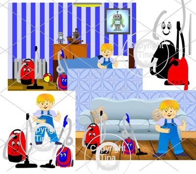 Layered Vacuums / Hoovers for Kids / Children  inc background setting sheets