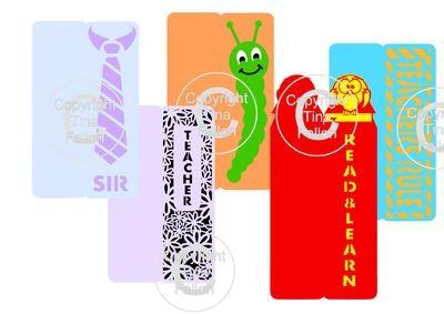 Teacher Bookmarks set of  5