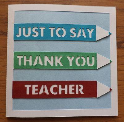 Thank You Teacher layered card template