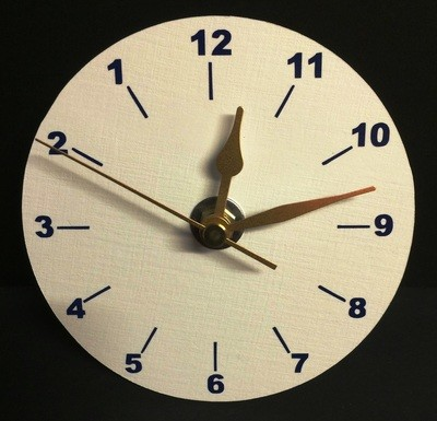 Backwards - Clock Face for CD's / 45's / LP's and 78's