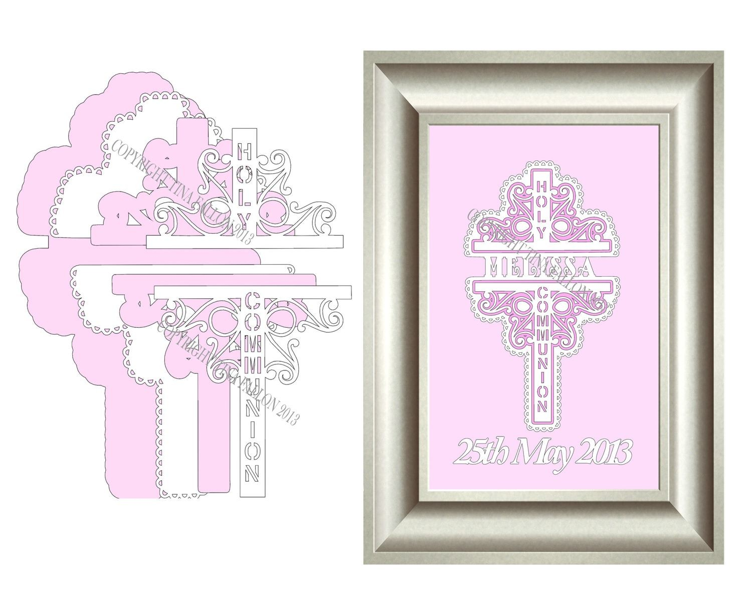 Holy Communion Decorative Cross No 1