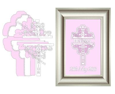 Holy Communion Decorative Cross No 1