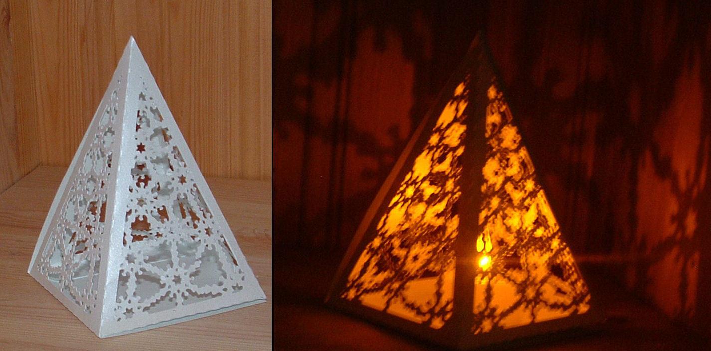 SNOWFLAKE PYRAMID Luminaire / Gift Box