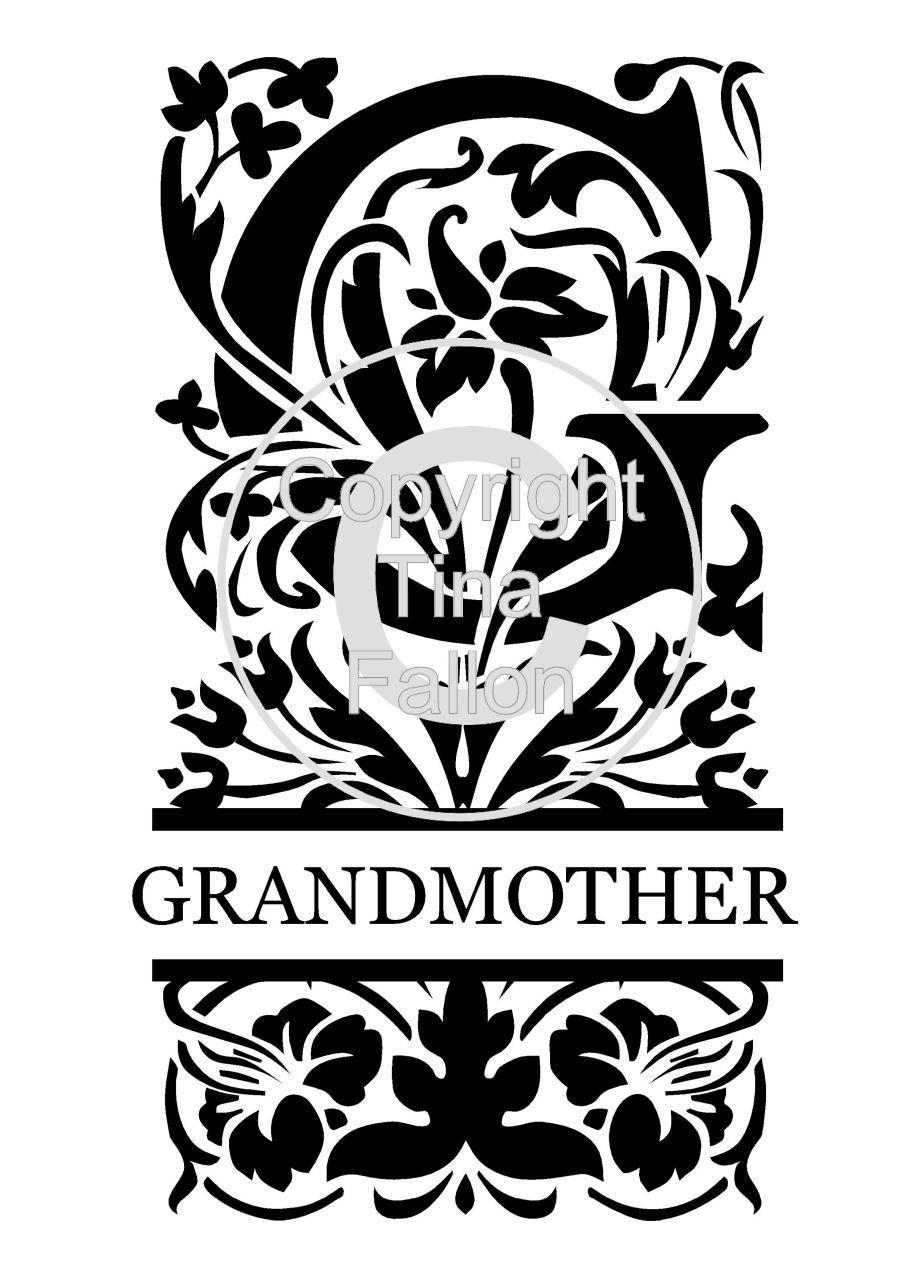 Split Letters - Grandmother