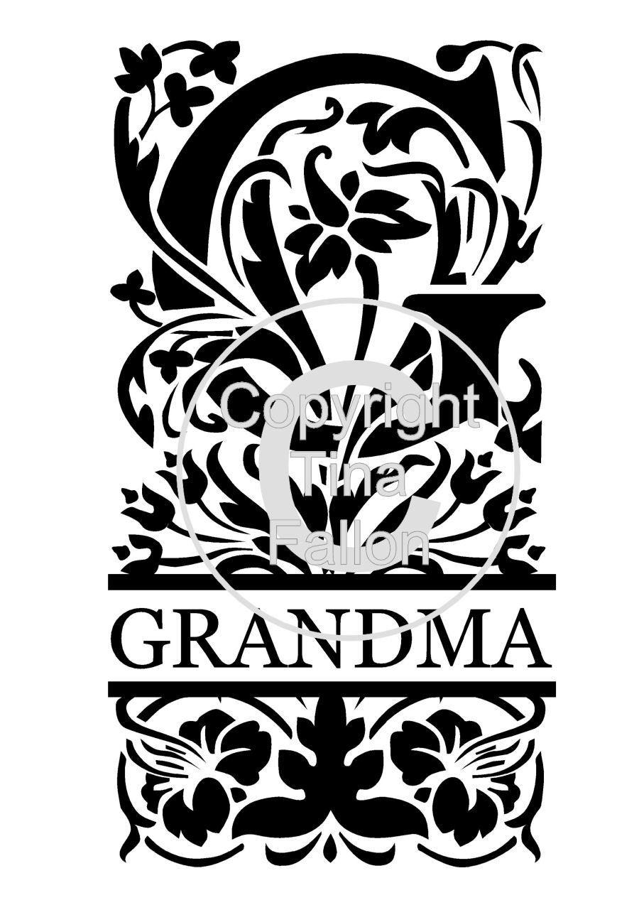Split Letters - Grandma