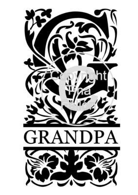 Split Letters - Grandpa