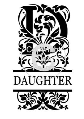 Split Letters - Daughter