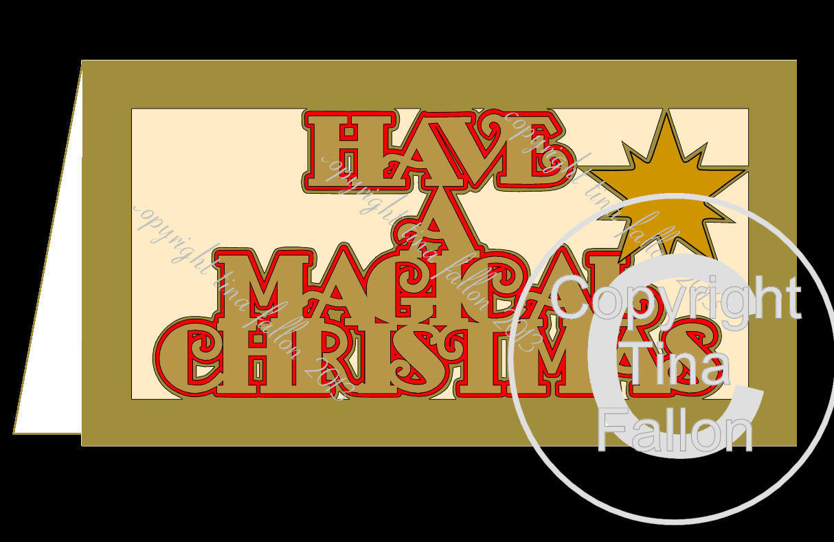Have A Magical Christmas DL Card Template