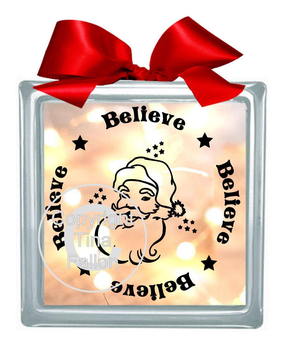 Believe Vinyl design for Christmas