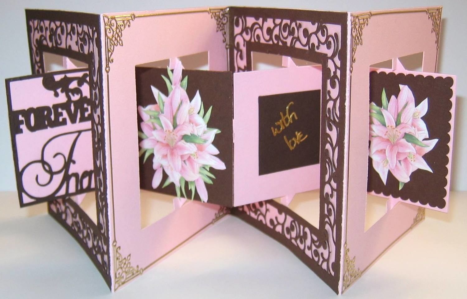 Accordian Square Card Forever Friends -  Studio file A4 12x12 and A3 see product description