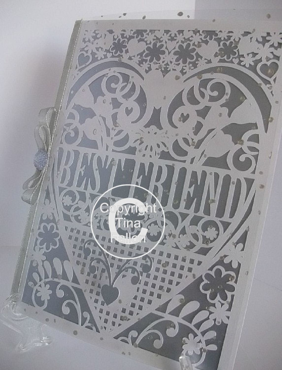 Best Friend Birthday Card (with box)  beautiful cutout design