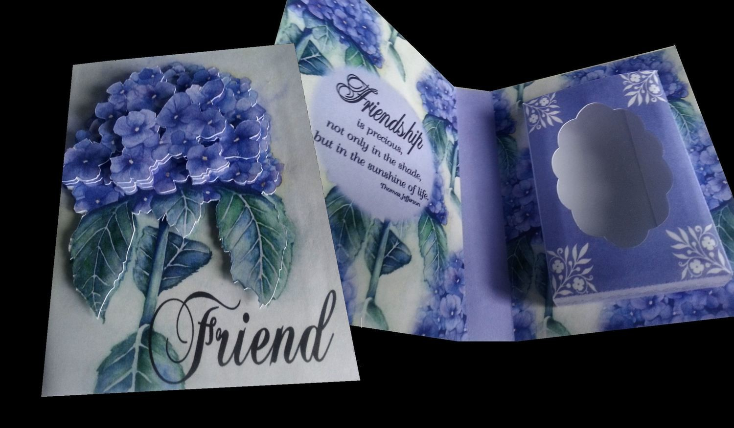 FRIEND Combi Card/Gift Box friendship is precious, not only in the shade but in the sunshine of life '