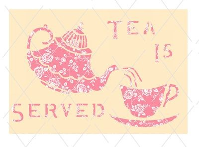Teapot and Cup card front