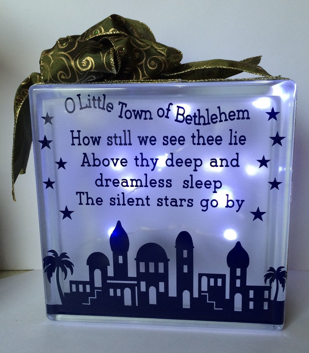 O Little Town of Bethlehem - Christmas Nativity Block for vinyl