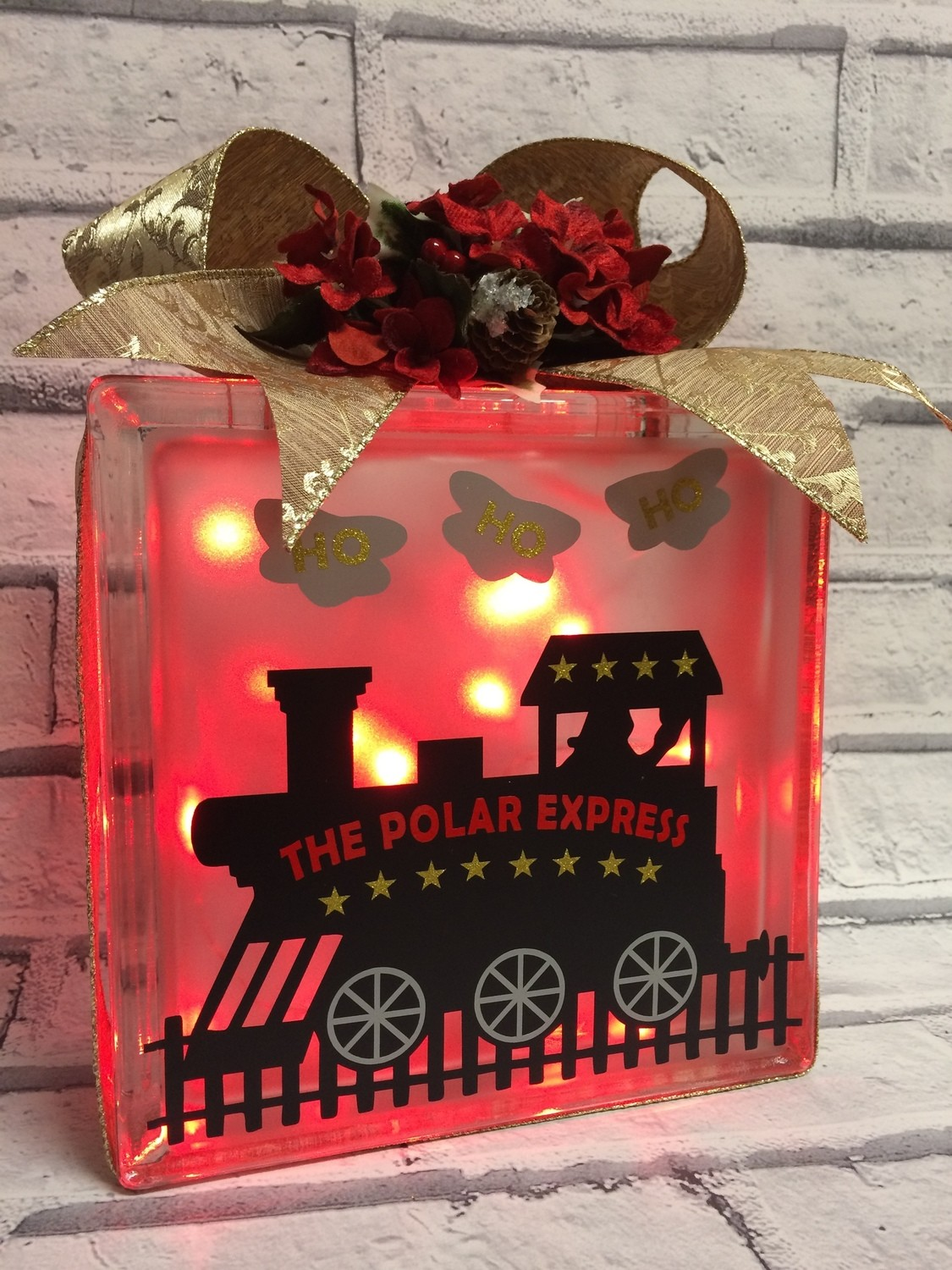 Polar Express No 2 (layered)  Frame Glass Block Tile Vinyl / Canvas etc