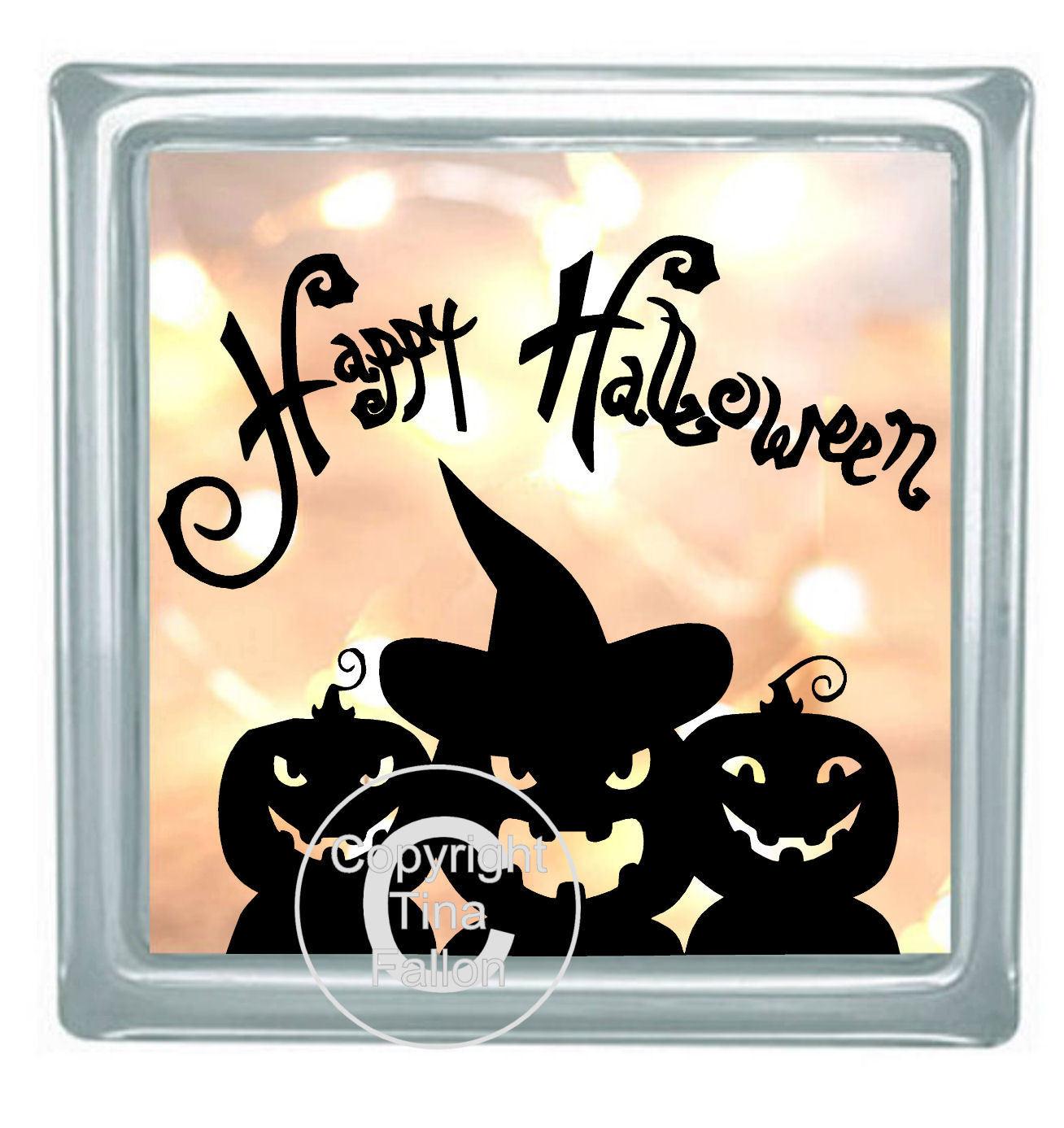 Happy Halloween Block Tile Design No 2