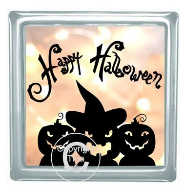 Happy Halloween Block Tile Design No 2
