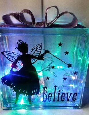 Fairy - Belive No 2 - design for vinyl and glass blocks