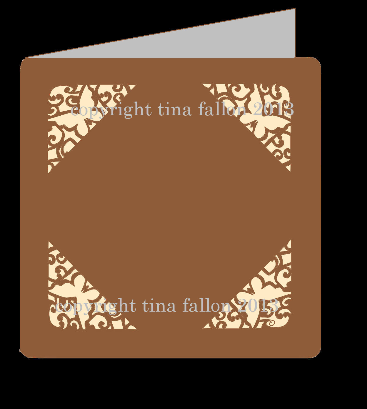 Butterfly Corners 4 - Card Template