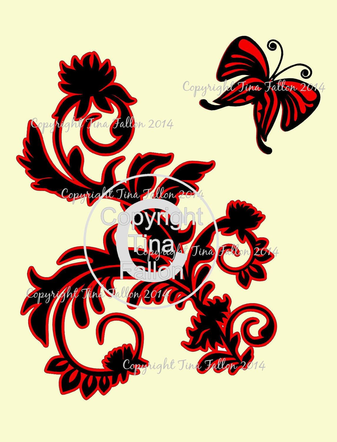 Butterfly and flourish topper