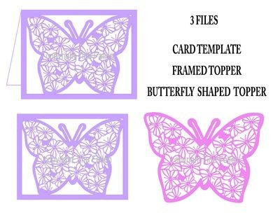 Filigree butterflies 3 cutting files