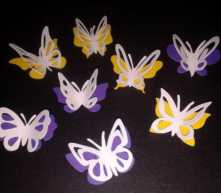 Butterflies set of 8