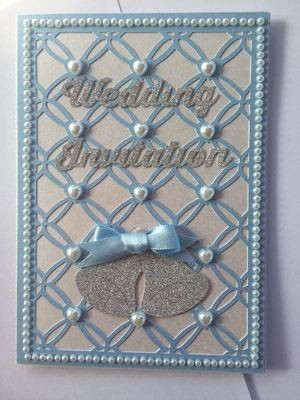 Entwined Hearts trellis frame die cut or emboss / engrave  A6 portrait