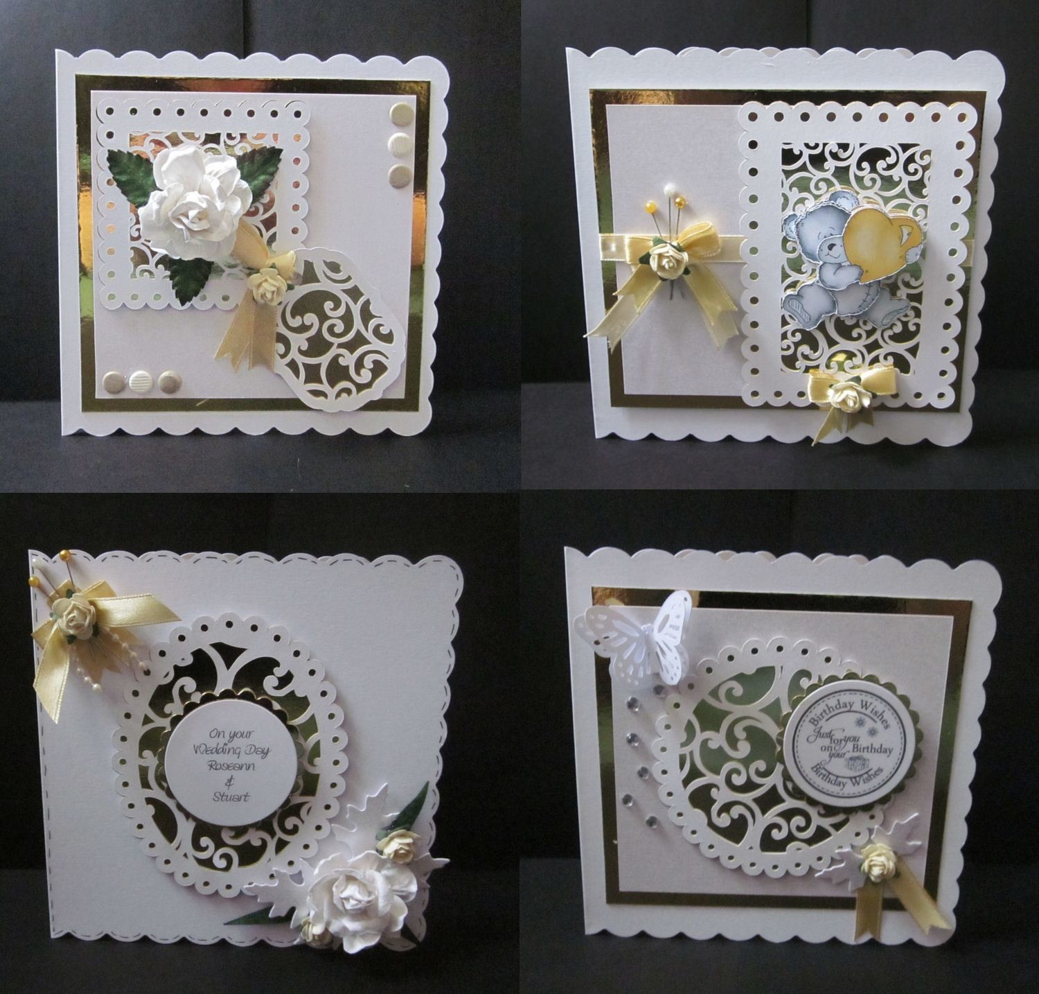 Filigree Design Set - Set of 4 toppers
