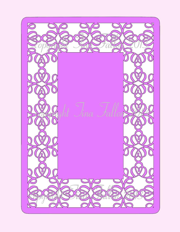 Decorative Filigree Panels / Frame  Framed Twirls No 2