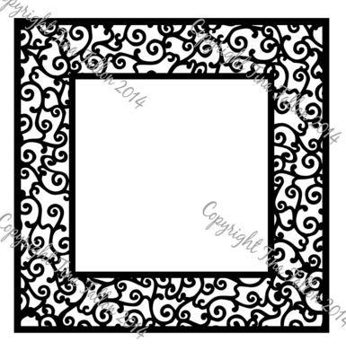 Large filigree Square frame
