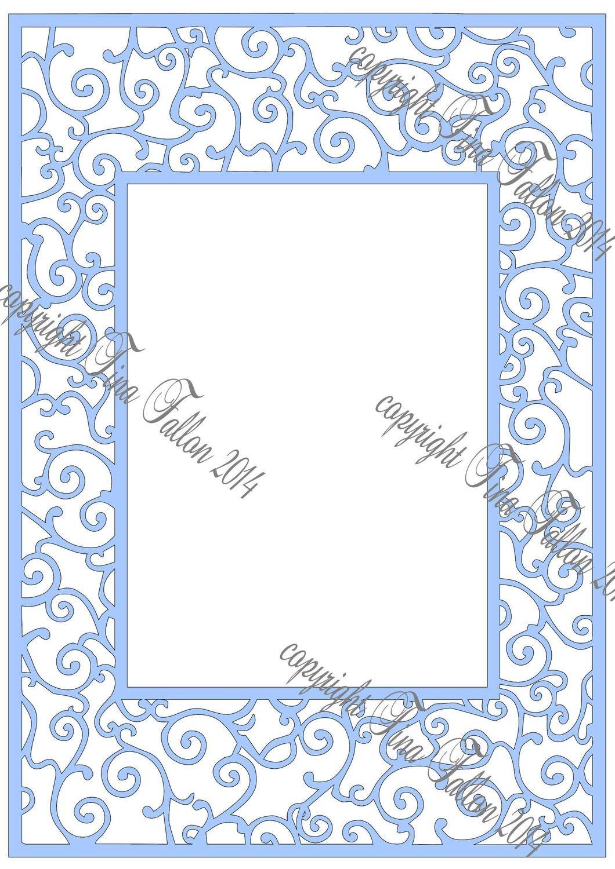 Large filigree frame