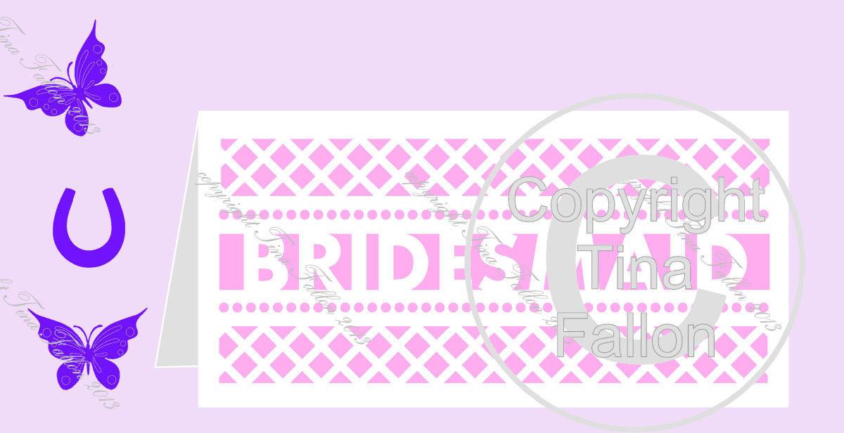 BRIDESMAID No4 Card template