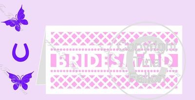 BRIDESMAID No4 Card template