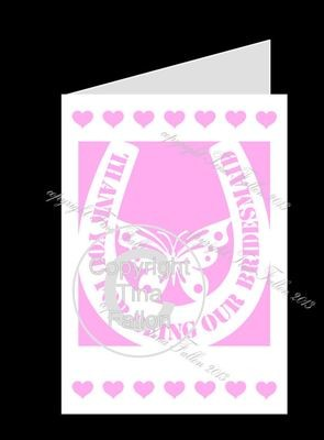 BRIDESMAID No3 Card template