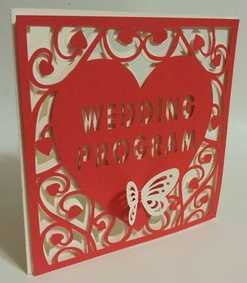 Heart Swirls  WEDDING PROGRAM card template