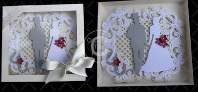 Wedding Day Card with box and card stand