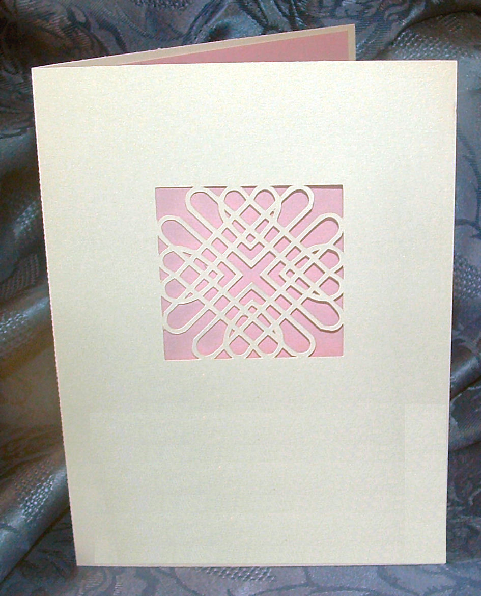 Entwined Hearts Card No 1  A5 size