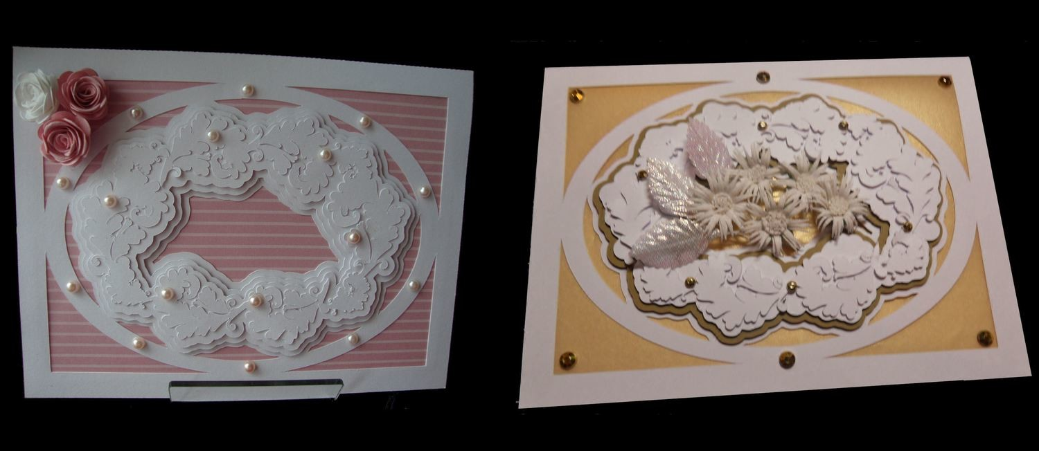 Faux Embossed Card Template No 7 Card with a 3 layered frame