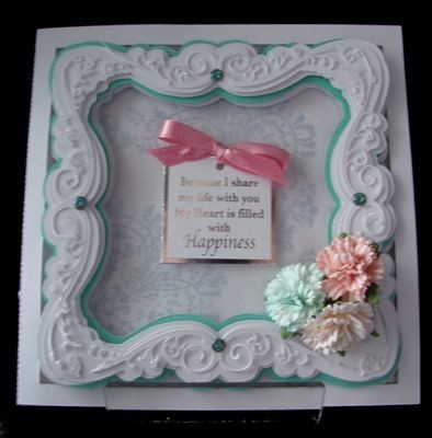 Faux Embossed Card Template No 3 Card with a 3 layered frame