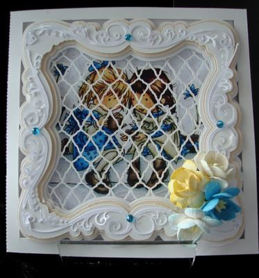 Faux Embossed Card Template No 4 Card with a 3 layered frame