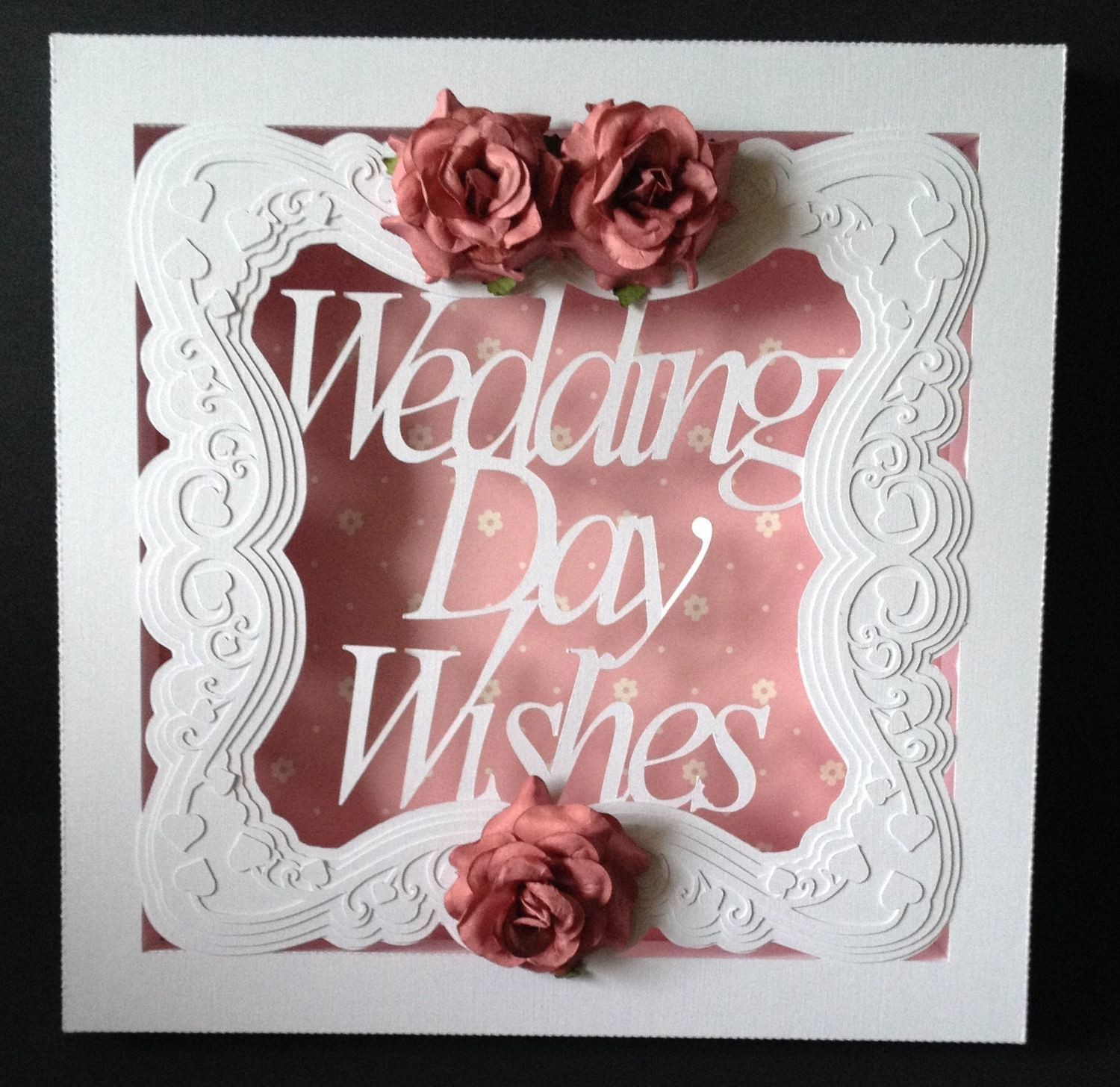 Large Wedding Wishes  SHADOW BOX