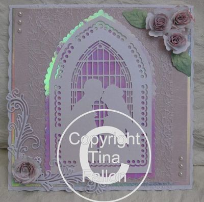 Wedding Couple Card Template and  Topper