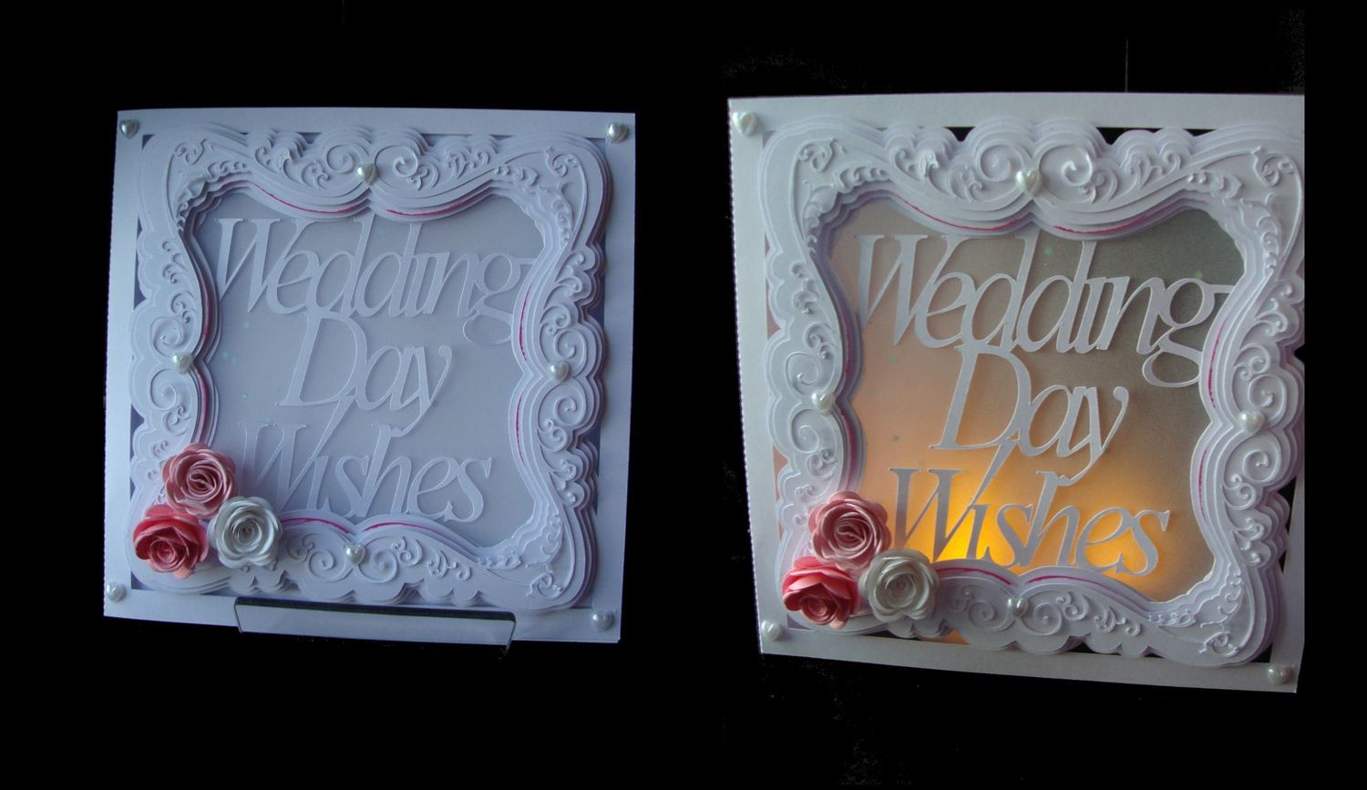 Wedding Day Wishes Card Faux Embossed