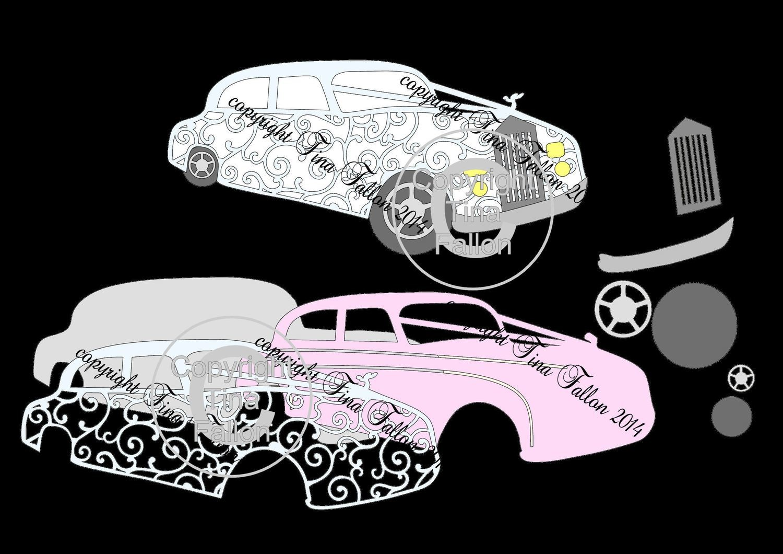 Wedding Car / Limousine No 1 Card Topper