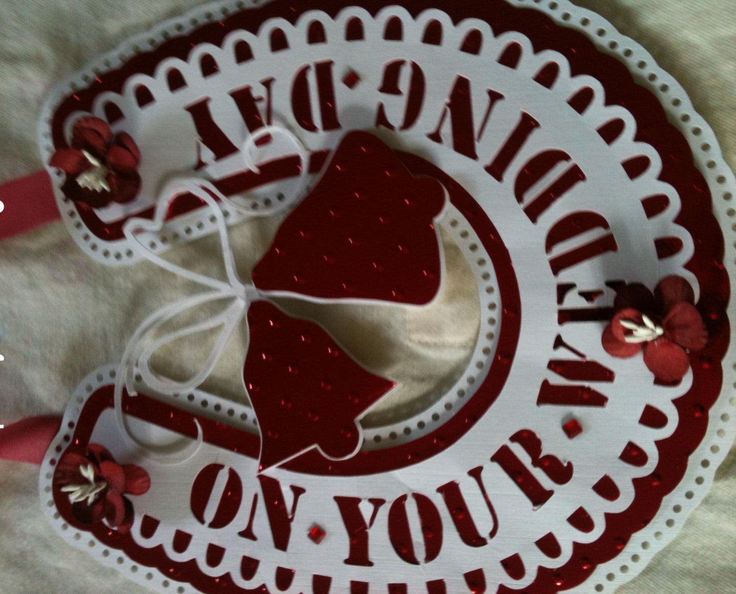 Horseshoe with Wedding Bells