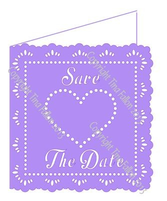 Wedding Hearts Save The Date