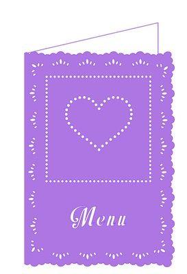 Wedding Hearts Menu